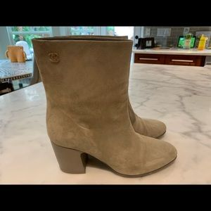 Chanel short suede boots